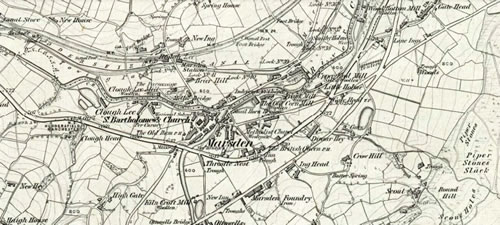 old map of Marsden